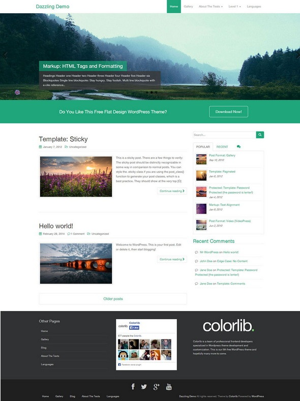 Dazzling WordPress Business Theme