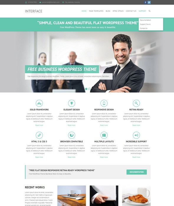 Interface Retina WordPress Theme