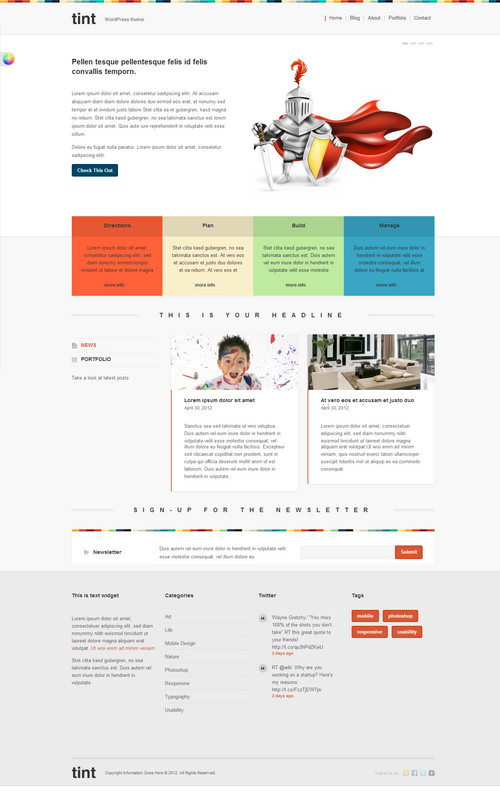 Tint Portfolio WordPress Theme