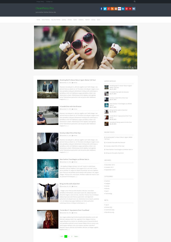 CleanPress Magazine Theme