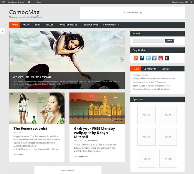 ComboMag News WordPress Theme