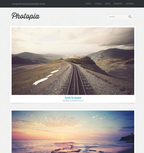 Photopia Photography Porfolio WordPress Theme