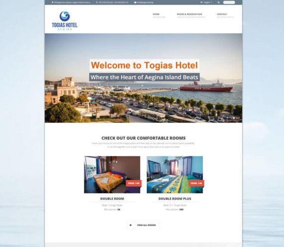 Κατασκευή Ιστοσελίδας Ξενοδοχείου Togias Hotel
